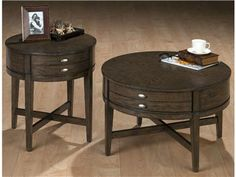 "Shop for Jofran Dustin 22"" Round End Table, 498129, and other Living Room Tables at Kittle's Furniture in Indiana and Ohio. Miniatures - antique gray oak."