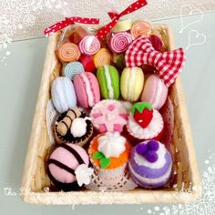 2016-12-14 14.48.37 Kawaii Crafts, Cute Crafts, Felt Crafts, Felt Toys, Craft Patterns, Miniatures, Handmade, Food, Desserts