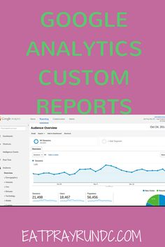 Google Analytics Custom Reports tutorial via Eat Pray Run DC