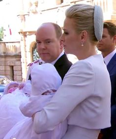 10 May 2015-Prince Albert of Monaco, the son of the late Princess Grace (aka Grace Kelly) and his wife Princess Charlene christen their twins Prince Jacques and Princess Gabriella.