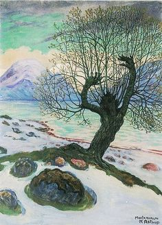 Astrup, Nikolai (1880-1928) - 1920c. March Morning  Oil on canvas