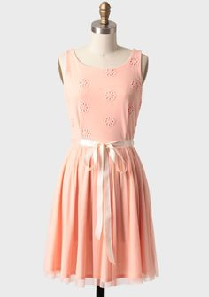 Want this for Easter!  Dreaming Of Spring Embroidered Dress | Modern Vintage Dresses