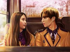 iu and jungkook this so cute art