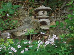 Garden steps lined with geranium 'biokovo.'  By Gloria Osterloh