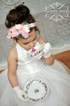 White Pearl Special Occasion Flower Girl by SignatureCollectionB, $119.99
