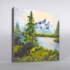 Neofaktum NEUE SCHINKEN² Motiv Pixelbaum (12cm x 12cm)