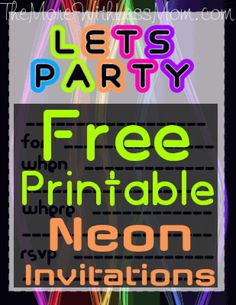 102 Best Party Glow Images Neon Birthday Neon Party Themed Parties
