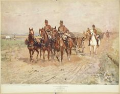 Roumania, [part - NYPL Digital Collections Types Of Resources, Library Services, Military Uniforms, New York Public Library, Still Image, Cops, Soldiers, Camel, Train