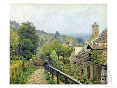 Louveciennes Or, the Heights at Marly, 1873 Giclee Print by Alfred Sisley at Art.com