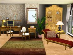 Elegant Home Office by Shino at The Sims Resource