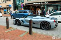 Metallic Grey LaFerrari spotted in Belgium, side view