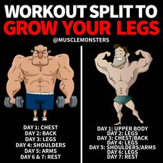 The keys to building bigger legs are not much different than most other muscle groups. your legs per week and aim to perform sets weekly (for quads and hamstrings). Gym Workout Chart, Gym Workout Tips, Workout Schedule, Fun Workouts, Workout Motivation, Workout Exercises, Leg And Glute Workout, Workout Splits, Triceps Workout