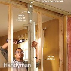 How to install a load-bearing beam #drywall #DIY tutorial
