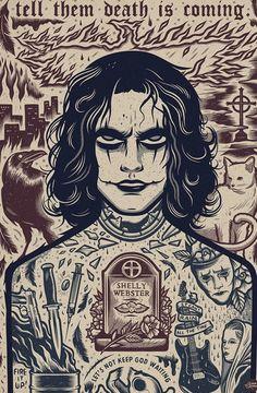 Dark Fantasy Art, Dark Art, Dibujos Dark, Crow Movie, Crow Art, Horror Artwork, Goth Art, Arte Horror, Scary Movies