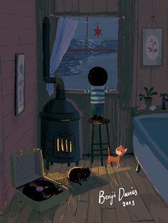 Douglas / Right Side Studios Illustration Whatsapp Wallpaper, Guache, Children's Book Illustration, Cute Art, Foto E Video, Illustrations Posters, Concept Art, Art Drawings, Inspiration