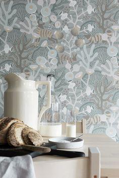 Brewster Home Fashions Wonderland Korall Meadow x Wallpaper Roll Wallpaper Online, Wallpaper Samples, Wallpaper Roll, Cool Wallpaper, Pattern Wallpaper, Scandi Wallpaper, Swedish Wallpaper, Woodland Creatures, Designer Wallpaper