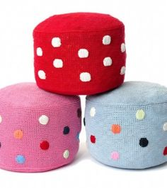 knitted poufs, from thelittlebabycompany