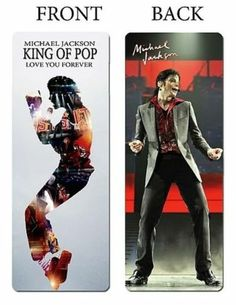 MICHEAL JACKSON Music Movie Memorabilia BOOKMARK This is it RED King of POP New