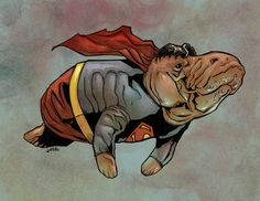 DC And Marvel Superheroes As Manatees. Superman--because the Wonder Woman manatee was to disturbing to post as the cover.