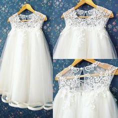 -----Keira dress----- #honeybeekids #honeybee_kids #customcolors #customerorder Christening Outfit Girl, Christening Gowns, Little Dresses, Little Girl Dresses, Girls Dresses, Little Girl Fashion, Kids Fashion, Dress Anak, Kids Gown