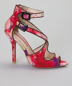 Look what I found on #zulily! Fuchsia Floral Luxe Cutout Pump #zulilyfinds