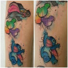 New Ideas Disney Tattoo Ideen Dumbo Baby Tattoos, Friend Tattoos, Body Art Tattoos, Sleeve Tattoos, Tatoos, Matching Disney Tattoos, Disney Sister Tattoos, Cute Disney Tattoos, Toothless Tattoo