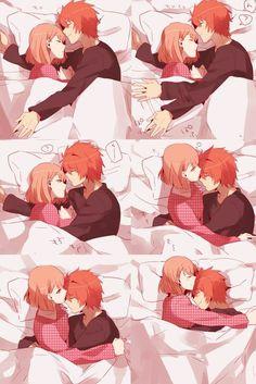 Kawaii Haruka e ittoki ( irá no Prince Sama) 😍 Anime Couples Drawings, Anime Couples Manga, Couple Drawings, Manga Anime, Anime Art, Anime Couples Cuddling, Anime Couples Hugging, Anime Couples Sleeping, Romantic Anime Couples