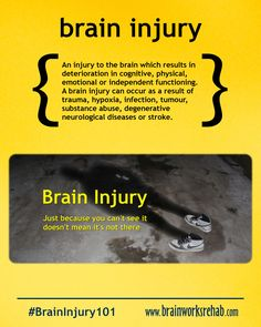 Brain Injury | Just because you can't see it doesn't mean it's not there.