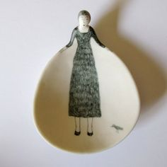 ceramic clay art pottery art mrs eliot books: Susan Disley/We Heart Books Ceramic Spoons, Ceramic Clay, Ceramic Plates, Ceramic Pottery, Pottery Art, Kintsugi, Sculptures Céramiques, Arts And Crafts, Diy Crafts