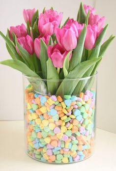 Valentine flower arrangement