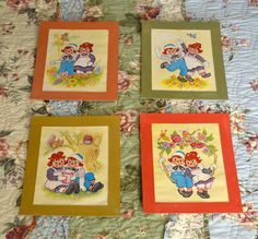 Vintage Nursery Prints Raggedy Ann And Andy by LindasTimeCompass, $20.00
