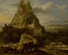 The Tower of Babel paint by the Belgian artist Joos de Momper the Younger - Lisabon:Museu Nacional de Arte Antiga (Portugal) Historical Monuments, Historical Art, Historical Architecture, Wild Bull, Les Fables, Epic Of Gilgamesh, Tower Of Babel, Peter Paul Rubens, High Art