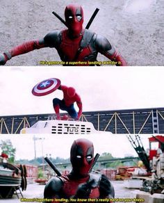 deadpool <3 spidey......buy why does spiderman have Cap's shield??