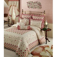 oversized king size bedding 126x120 | valerie bertinelli floral