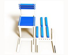 Profile Chair/Stool by Andrei Boghita, via Behance