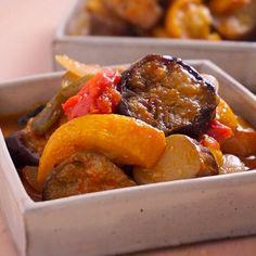 「ラタトゥイユ」水を加えず野菜自身の水分で蒸し煮にします!     あさこ食堂