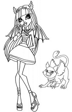 Monster High Baby Coloring Pages To Print