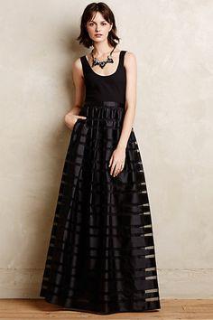 Astor Organza Stripe Gown