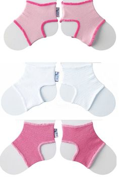 Sock Ons Clever Little Things That Keep Baby Socks On! 3 Pack Girls 0 - 6 Months