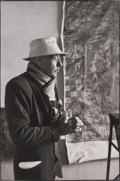 French painter Pierre Bonnard in his atelier / photo: Henri Cartier-Bresson 1944