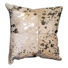 Canaan Gold Hide Throw Pillow