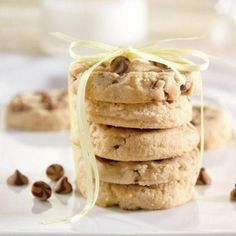 Chocolate chip peanut butter cookies made with Splenda...  YUM!