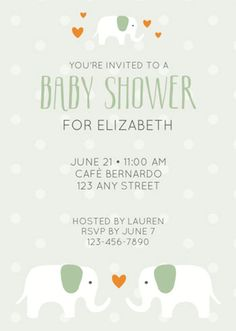 Pink baby elephant printable invitation template customize add free baby shower printables filmwisefo