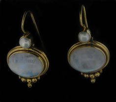 Moonstone and pearl
