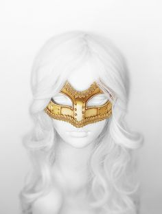Antiqued Gold Masquerade Mask  Handpainted Venetian by SOFFITTA