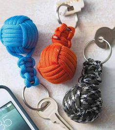 Monkey Fist Key Ring - could make look like planets for 5th-6th VBS craft???