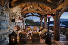 outdoor rooms | Outdoor hearth room - A fireplace allows you to enjoy your outdoor ...