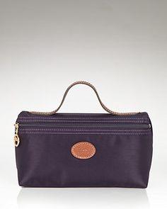 On a Longchamp binge - Longchamp Le Pliage Medium Cosmetics Case   Bloomingdale's