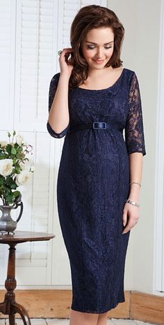Amber Maternity Dress (Midnight Blue) by Tiffany Rose