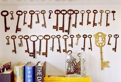 keys! (and more decorating ideas with keys)